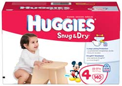 HUGGIES Snug &amp; Dry Diapers Product Shot