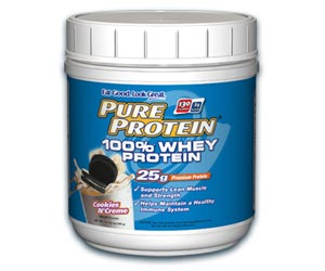 Pure Protein 100 Percent Whey Protein Powder - Cookies N' Creme (1 Pound)