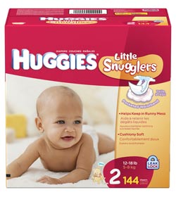 HUGGIES Little Snlers Diapers, Size 2, 144-Count Product Shot