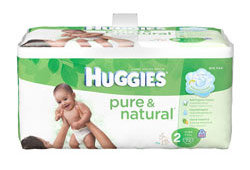 HUGGIES Pure & Natural Diapers, Size 2, 72-Count (Pack of 2) Product Shot