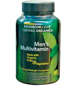 Rainbow Light Men's Organic Multivitamin (120 Vegetarian Capsules) Product Shot