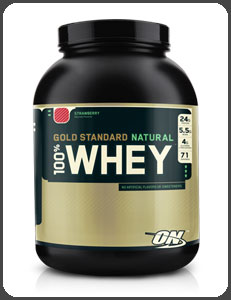 Optimum Nutrition GOLD STANDARD NATURAL 100% WHEY, Natural Strawberry