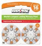 Rayovac Hearing Aid mercury free Battery