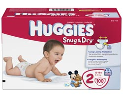 HUGGIES Snug & Dry Diapers, Size 2, 100-Count Product Shot