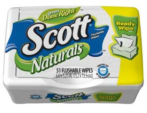 Scott Naturals Folded Moist Wipes, 51-count Tubs (Pack of 12) Product Shot
