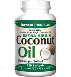 Jarrow Formulas Coconut Oil, Extra Virgin, 120 Softgels Product Shot