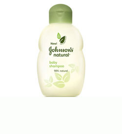 JOHNSON'S NATURAL Baby Shampoo, 10-ounce