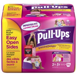 HUGGIES Pull-Ups Training Pants with Learning Designs, Girls, 2T-3T, 58-Count Product Shot