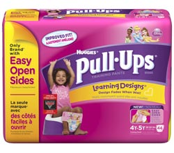 HUGGIES Pull-Ups Training Pants with Learning Designs, Girls, 4T-5T, 44-Count Product Shot
