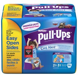 HUGGIES Pull-Ups Training Pants with Cool Alert Wetness Liner, Boys, 2T-3T, 58-Count Product Shot