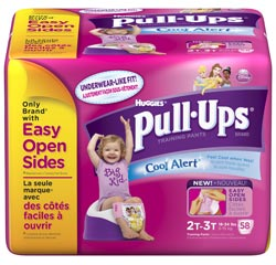 HUGGIES Pull-Ups Training Pants with Cool Alert Wetness Liner, Girls, 2T-3T, 58-Count Product Shot