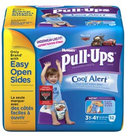 HUGGIES Pull-Ups Training Pants with Cool Alert Wetness Liner, Boys, 3T-4T, 52-Count Product Shot