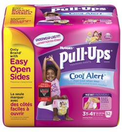 Huggies Pull-Ups Cool Alert Training Pants, Girls, 3T - 4T (52 Count) Product Shot