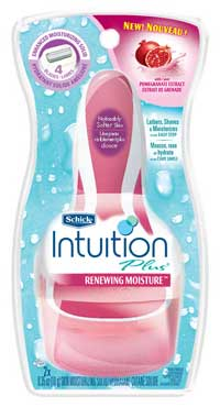 Schick Intuition Plus Renewing Moisture Razor, Pomegranate (1-Pack) Product Shot