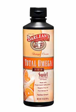 Barlean's Orange Cream Total Omega Swirl Product Shot