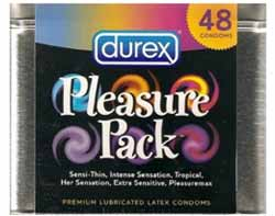 DUREX - Pleasure Pack Condom Tin, 48 Count Product Shot