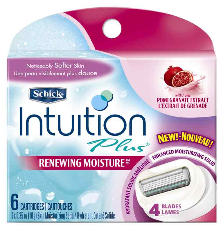 Amazon.com : Schick Intuition Plus Renewing Moisture Razor ...
