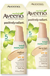 AVEENO POSITIVELY RADIANT Tinted Moisturizer, SPF 30 Medium, 2.5 Ounces Product Shot
