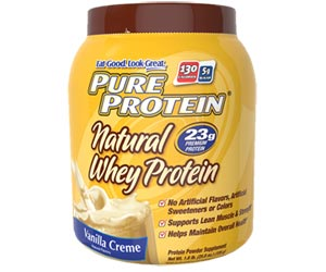 Pure Protein Natural Whey Protein Powder - Vanilla Creme