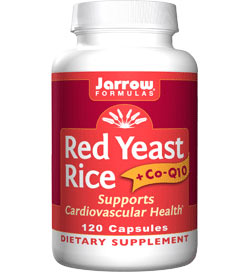 Jarrow Formulas Red Yeast Rice + coQ10, 100mg, 120 Capsules Product Shot