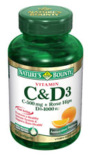 Nature's Bounty Vitamin C-500 mg and D3 1000 IU (100 Tablets)
