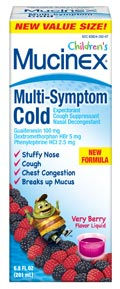 Children's Mucinex Multi-Symptom Cold Liquid Product Shot