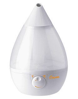 Crane Drop Shape Cool Mist Humidifier, White Product Shot