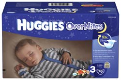 HUGGIES Overnites Diapers, Size 3, 76-Count Product Shot