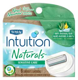 Schick Intuition Naturals Sensitive Care Refill, 6-Count Product Shot