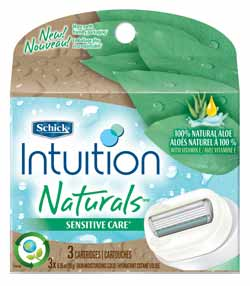 Schick Intuition Naturals Sensitive Care Refill, 3-Count Product Shot
