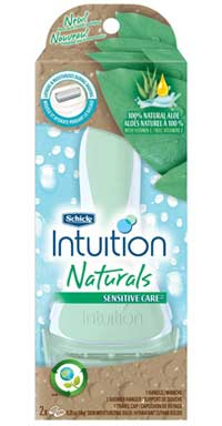 Schick Intuition Naturals Sensitive Care Razor Product Shot
