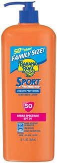 Banana Boat Sport Performance Lotion SPF 50 Family Size, 12 fluid ounces Product Shot