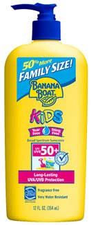 Banana Boat Kids Sunscreen SPF 50 Family Size, 12 fluid ounces Product Shot