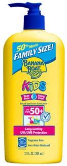 Banana Boat Kids Sunscreen SPF 50 Family Size, 12 fluid ounces Product Shot
