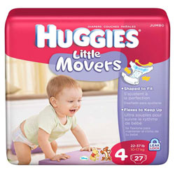 HUGGIES Little Movers Diapers, Size 4, 112-Count Product Shot
