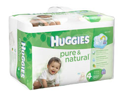 HUGGIES Pure & Natural Bonus Pack Diapers, Size 4, 60-Count (Pack of 2) Product Shot