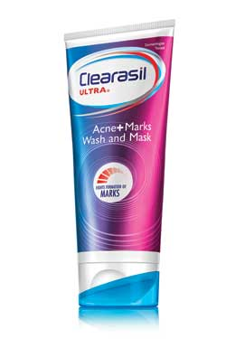CLEARASIL Ultra Acne+Marks Wash and Mask (6.78 Ounce, Pack of 6) Product Shot
