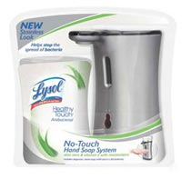 LYSOL HEALTHY TOUCH Hand Soap Starter Kit (Stainless) Aloe 8-1/2 Ounce Case Product Shot