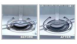 FINISH Dishwasher Cleaner Liquid Before and After