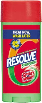 RESOLVE MAX (formerly SPRAY N WASH) Pre Treat STAIN STICK (3 Ounces) Product Shot