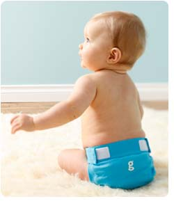 gDiapers Little gPant Galley Blue Lifestyle Shot