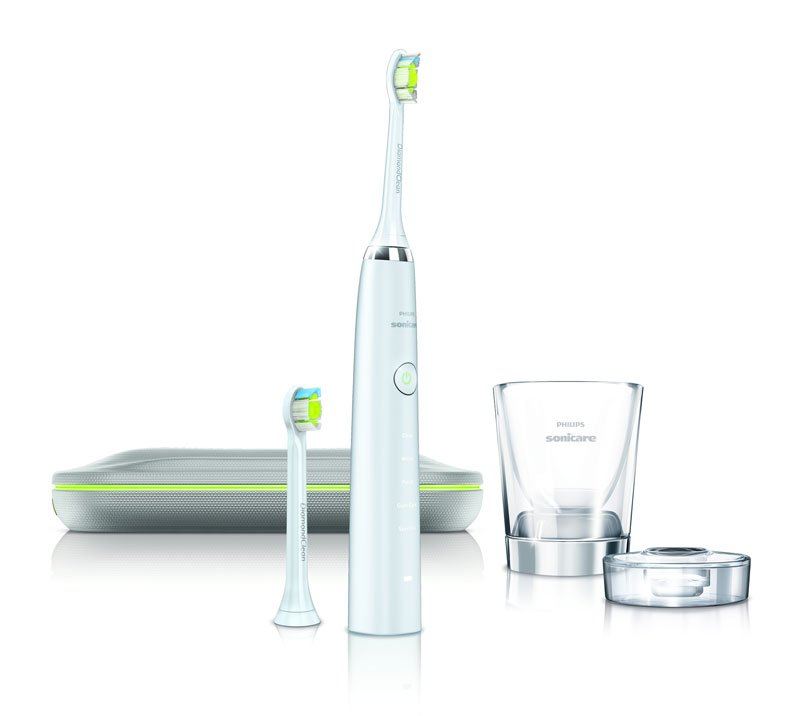 Toothbrush removes more plaque than manual toothbrushes. View larger