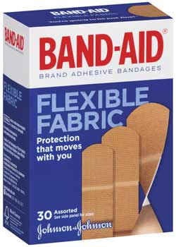 BAND-AID Brand Flexible Fabric Bandages, (30-Count Boxes, Pack of 2) Product Shot