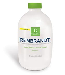 REMBRANDT DEEPLY WHITE + Peroxide Whitening Mouthwash Product Shot