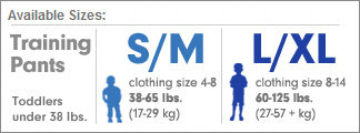 GoodNites Sizing Chart