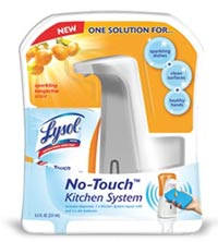 LYSOL No Touch Kitchen System - Starter Kit 1+1 Tangerine Product Shot