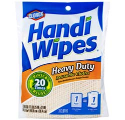Clorox Handi Wipes Heavy Duty Reusable Cloths (3 Count, Pack of 4) Product Shot