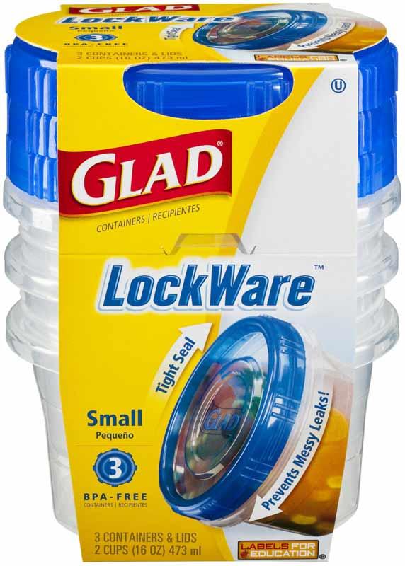 Amazon Com Glad Lockware Small Food Storage Containers