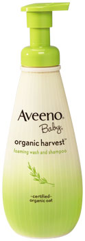 AVEENO Baby Organic Harvest Foaming Wash and Shampoo (8 Ounces) Product Shot