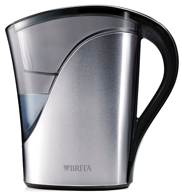 brita stainless steel water filter pitcher 8. Black Bedroom Furniture Sets. Home Design Ideas